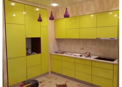 Яркая лимонная кухня из МДФ