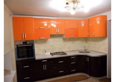 Кухня Хай Тек оранжевого цвета