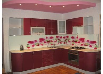 Кухня Хай Тек цвет Бордо