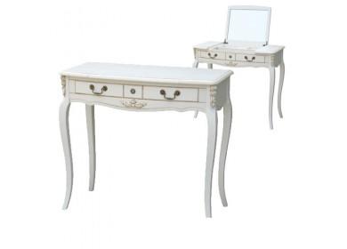 Туалетный стол с зеркалом Белая Роза F6609 (S06)