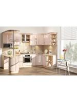 Угловая модульная кухня цвета Кофейной груши